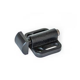 GN 415 Lukitustapit, sivuttaismalli Tyyppi: A1 - Sylinteri, vaakasuora<br />Versio: KG - Muovi, sileä