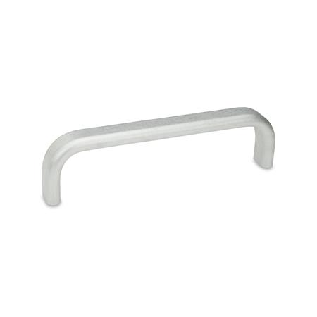 GN 668 Flache Bügelgriffe, Aluminium Form: A - Montage von der Rückseite (Gewinde-Sackloch) Oberfläche: BL - blank