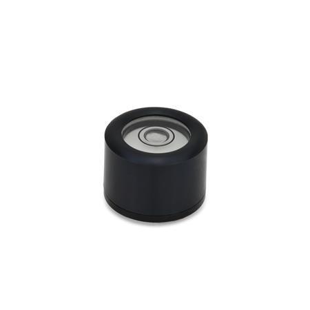 GN 2280 Dosenlibellen Werkstoff / Oberfläche: ALS - schwarz eloxiert