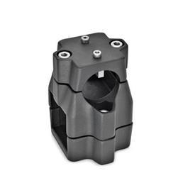 GN 135.1 Linear actuator connectors, Aluminum d<sub>1</sub> / s<sub>1</sub>: B - Bore<br />d<sub>2</sub> / s<sub>2</sub>: V - Square