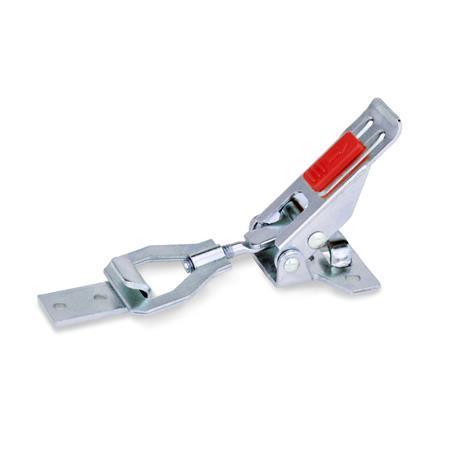 GN 831.2 Cierres de palanca, acero / acero inoxidable, con seguro Material: ST - Acero