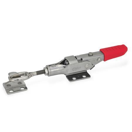 GN 853 Edelstahl-Verschlussspanner mit Verriegelung Form: TG - mit Zuganker, mit Gegenhalter, Zuganker mit Öse
