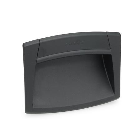 GN 731 Gripping trays, clip-in type, Plastic Color: SG - black-gray, RAL 7021, matte