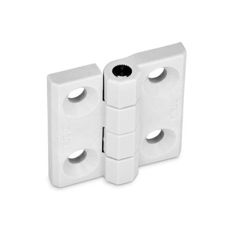 GN 237.1 Hinges, Cleanline Colour: CL - white, RAL 9002
