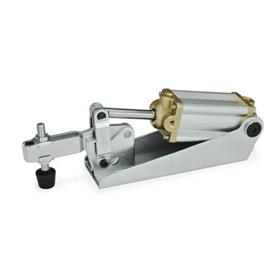 GN 860 Toggle clamps, pneumatic Type: CP3 - U-bar version, with two flanged washers and clamping screw GN 708.1