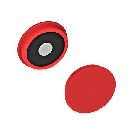 GN 53.1 Magnets, Plastic Color: RT - red, RAL 3031