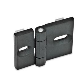 GN 161 Hinges for profile systems, Zinc die casting