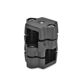 GN 134.7 Rastschlitten, Aluminium Kennziffer: G - mit Gewinde<br />Oberfläche: SW - schwarz, RAL 9005, strukturmatt