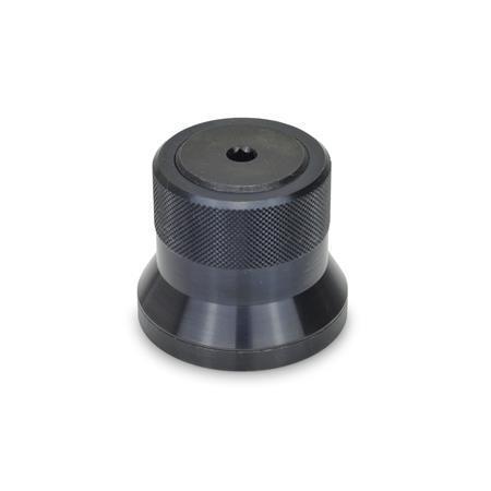 GN 200 Arretierelemente, Stahl Form: A - Drehknopf, brüniert, ohne Skala