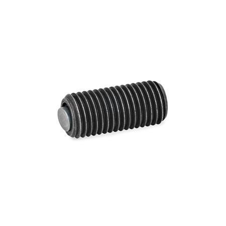 GN 709.8 Bases de apriete oscilantes Tipo: B - Esfera de acero, cara de contacto lisa