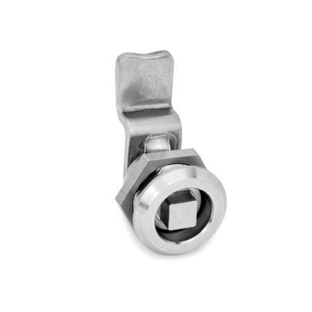 GN 115.6 Mini-Verriegelungen, Edelstahl Form: VK - Betätigung mit Vierkant (VK6)