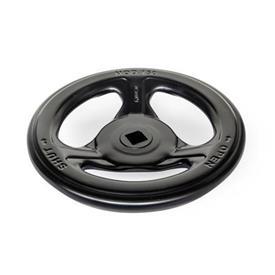 GN 227.7 Stahlblech-Handräder, für Armaturen Farbe: SWK - schwarz, RAL 9005