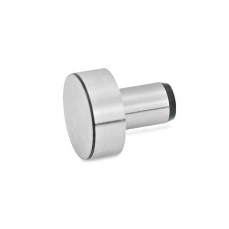 DIN 6321 Työkappaleiden kiinnityspultit / Kannalliset ohjaustapit Tyyppi: A - Kannallinen ohjaustappi, matalaTyyppi