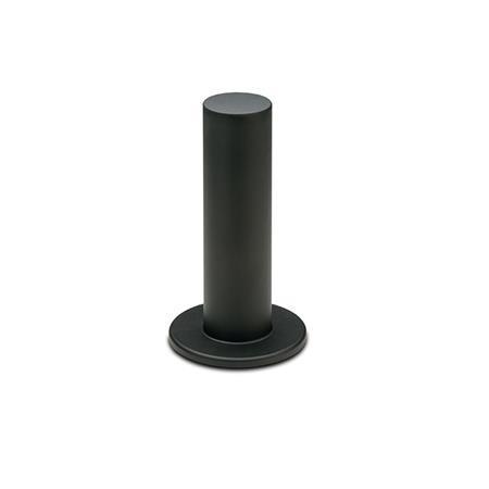 GN 539.2 Zylindergriffe, Kunststoff, Buchse Form: A - mit Handschutz, einseitig