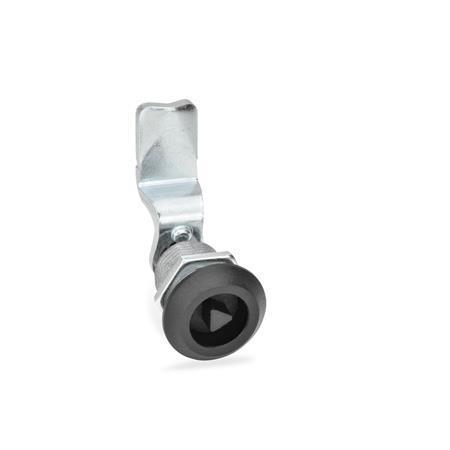 GN 516 Dreh-Spannriegel, Zink Druckguss / Stahl Form: DK - Betätigung mit Dreikant (DK7)