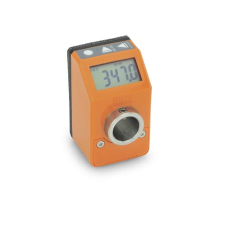 GN 9054 Position indicators, electronic, with LCD-Display (digital indication), 5 digits Color: OR - orange, RAL 2004