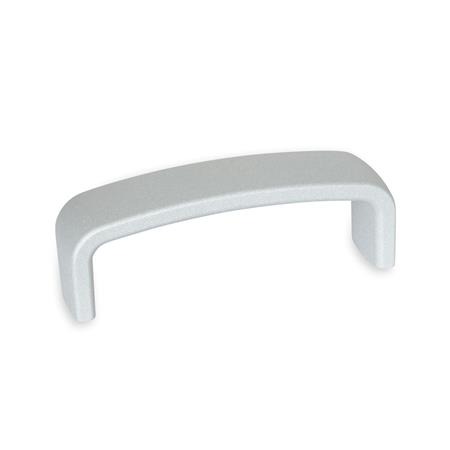 GN 422.1 Cabinet U-handles, Aluminum Finish: SR - silver, RAL 9006, textured finish