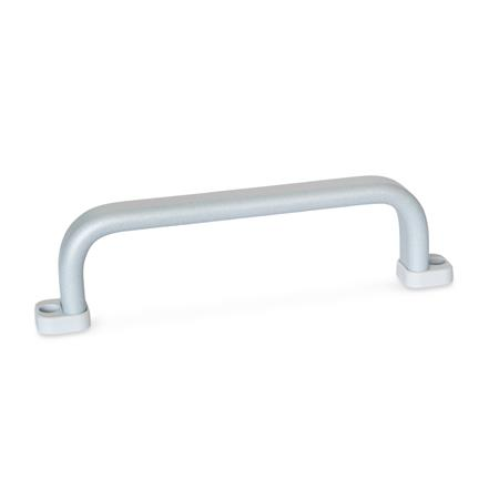 GN 668 Flat cabinet U-handles, Aluminum Type: B - Mounting from the operator's side (only for b1=20) Finish: SR - silver, RAL 9006, textured finish
