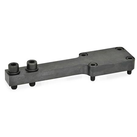 GN 869.2 T-bracket / double post bracket accessories, static holder Type: P - Jaw block parallel to clamping arm