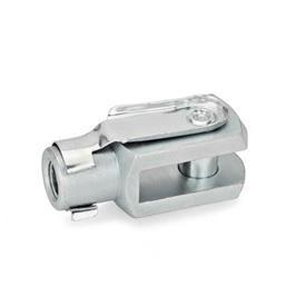 GN 751 Gabelgelenke, Stahl Werkstoff: ST - Stahl<br />Form: B - Schnappfederbolzen
