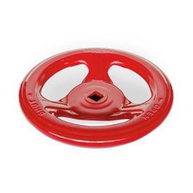 GN 227.7 Stahlblech-Handräder, für Armaturen Farbe: RTK - rot, RAL 3000