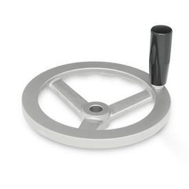 GN 949 Edelstahl-Handräder Bohrungskennzeichnung: B - ohne Nabennut<br />Form: D - mit drehbarem Griff