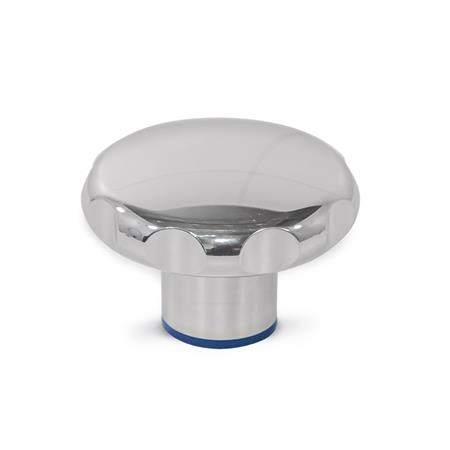 GN 5435 Edelstahl-Sterngriffe, Hygienic Design Oberfläche: PL - poliert (Ra < 0,8 µm) Werkstoff (Dichtring): H - H-NBR