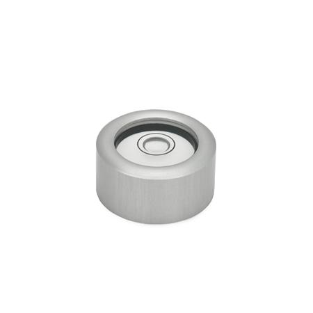 GN 2279 Bull´s eye levels, for surface mounting Material / Finish: ALN - anodized, natural color