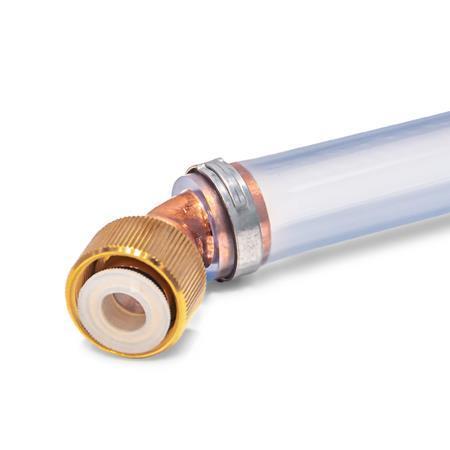 GN 880.1 Anschlussstücke für Ölablassventile GN 880, mit Ablassschlauch Form: B - Anschluss 45°